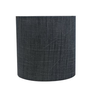 "# 31193 Transitional Drum (Cylinder) Shaped Clip-On Construction Lamp Shade in Grey & Black, 5"" wide (5"" x 5"" x 5"")"
