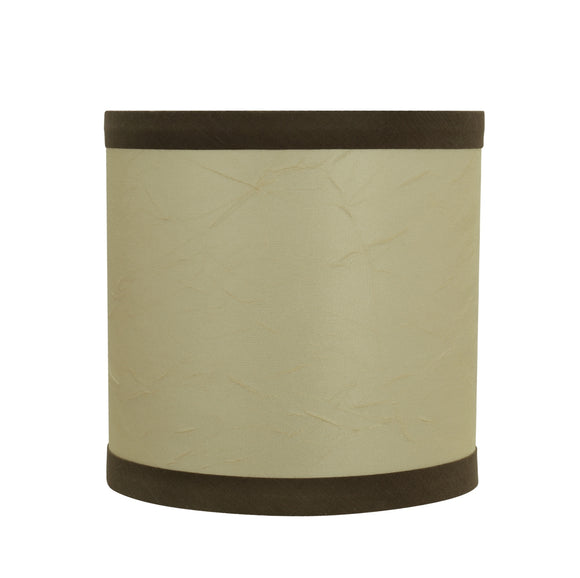 # 31194 Transitional Drum (Cylinder) Shaped Clip-On Construction Lamp Shade in Beige, 5