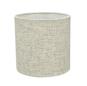 "# 31196 Transitional Drum (Cylinder) Shaped Clip-On Construction Lamp Shade in Beige, 5"" wide (5"" x 5"" x 5"")"