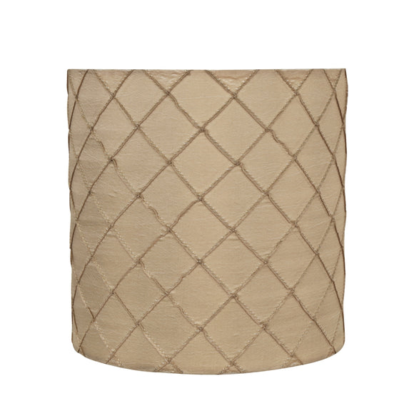 # 31221 Transitional Drum (Cylinder) Shaped Spider Construction Lamp Shade in Beige, 8