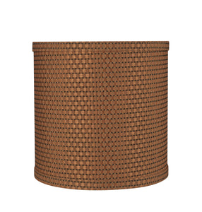 "# 31233 Transitional Drum (Cylinder) Shape Spider Construction Lamp Shade in Brown, 8"" wide (8"" x 8"" x 8"")"