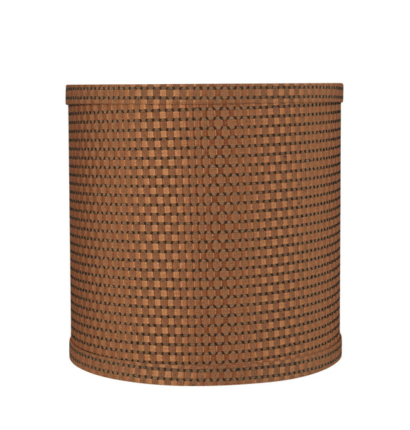 # 31233 Transitional Drum (Cylinder) Shape Spider Construction Lamp Shade in Brown, 8