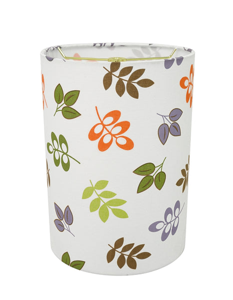 "# 31251 Transitional Drum (Cylinder) Shaped Spider Construction Lamp Shade in Off White, 8"" wide (8"" x 8"" x 11"")"