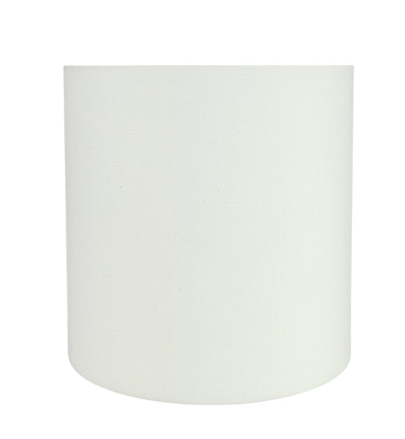 # 31312 Transitional Drum (Cylinder) Shape Spider Construction Lamp Shade in Off White, 10