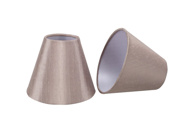 # 32002-2 Hardback Shaped Clip-On Shade (2 Pack) in Taupe - also sold in 5, 6 and 9 Packs - Aspen Creative Corporation