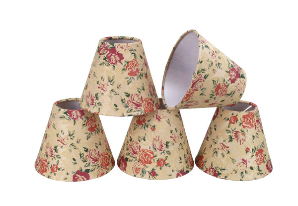 # 32003-2 Hardback Shaped Clip-On Shade (2 Pack) in Floral - also sold in 5, 6 and 9 Packs - Aspen Creative Corporation