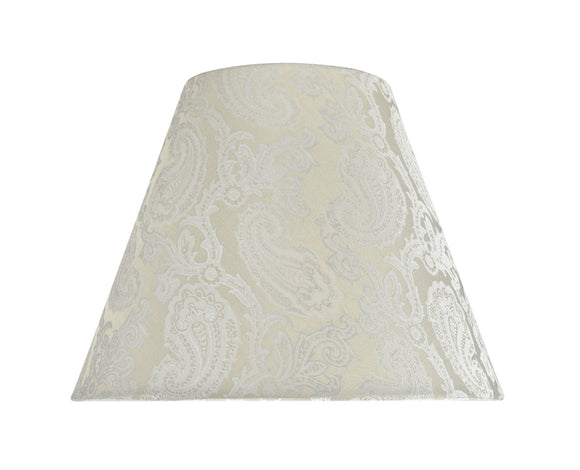 # 32011 Transitional Hardback Empire Shape Spider Construction Lamp Shade in Taupe with Design, 14