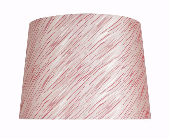 # 32013 Transitional Hardback Empire Shape Spider Construction Shade in Taupe with Red Striping, 14