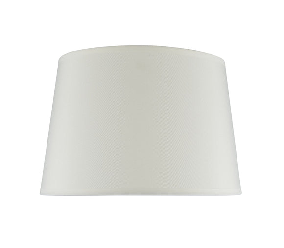 # 32015 Transitional Hardback Empire Shape Spider Construction Lamp Shade in Ivory Cotton Fabric, 12