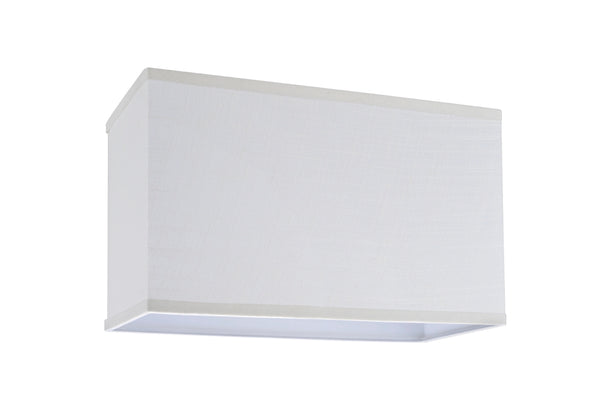 # 32035 Rectangular Hardback Shaped (spider) Shade in Off White Linen Fabric - Aspen Creative Corporation