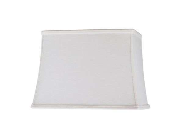 # 32036 Transitional Rectangle Hardback Spider Construction Shade, Off White, 14
