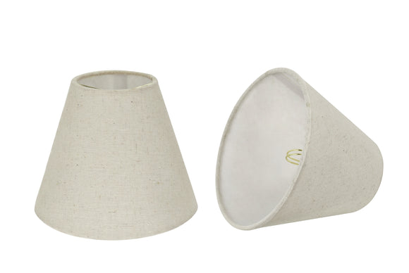 # 32038-X Small Hardback Empire Shape Mini Chandelier Clip-On Lamp Shade, Transitional Design in Grey, 6