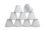 "# 32044-X Small Hardback Empire Shape Mini Chandelier Clip-On Lamp Shade, Transitional Design in White, 6"" bottom width (3"" x 6"" x 5"") - Sold in 2, 5, 6 & 9 Packs"