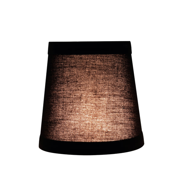 "# 32046-X Small Hardback Empire Shape Mini Chandelier Clip-On Lamp Shade, Transitional Design in Black, 4"" bottom width (3"" x 4"" x 4"") - Sold in 2, 5, 6 & 9 Packs"