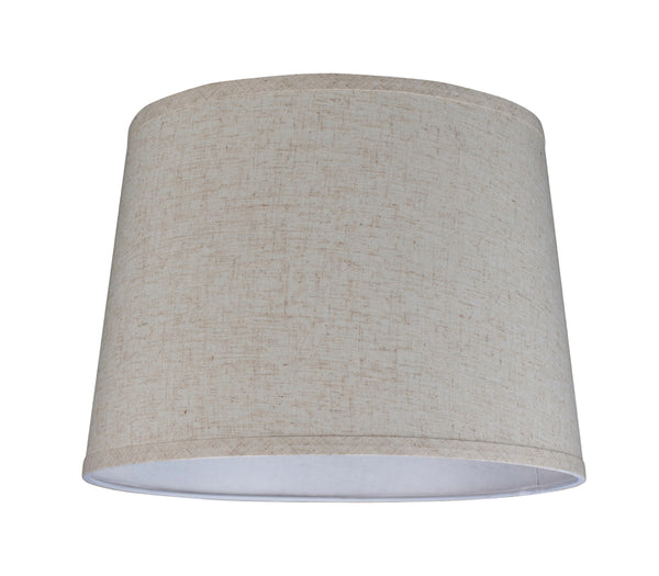 "# 32053 Transitional Hardback Empire Shape Spider Construction Lamp Shade in Beige Linen, 14"" wide (12"" x 14"" x 10"")"