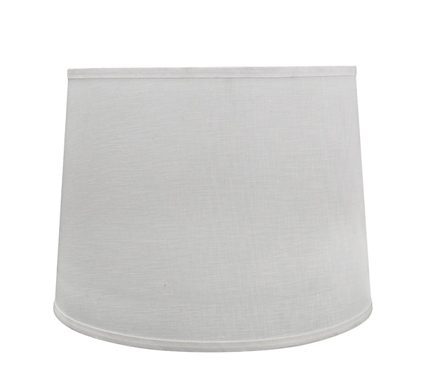 "# 32054 Transitional Hardback Empire Shape Spider Construction Lamp Shade in Off White Linen, 16"" wide (14"" x 16"" x 12"")"