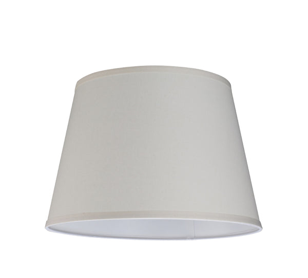 "# 32056 Transitional Hardback Empire Shape Spider Construction Lamp Shade, Off White Linen, 15"" wide (11"" x 15"" x 10 1/2"")"