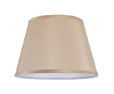"# 32057  Transitional Hardback Empire Shape Spider Construction Lamp Shade in Beige Faux Silk, 13"" wide (9"" x 13"" x 9"")"