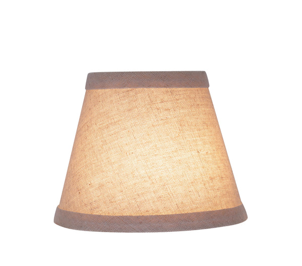 "# 32058-X Small Hardback Empire Shape Mini Chandelier Clip-On Lamp Shade, Transitional Design in Beige, 5"" bottom width (3"" x 5"" x 4"")  - Sold in 2, 5, 6 & 9 Packs"