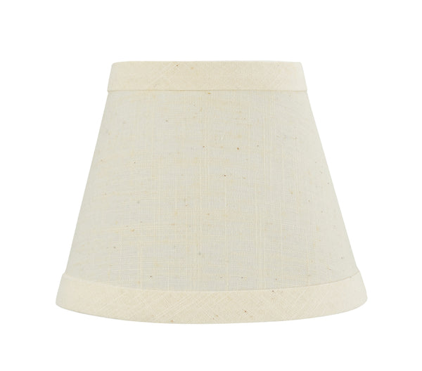 "# 32062-X Small Hardback Empire Shape Chandelier Clip-On Lamp Shade Set of 2, 5, 6,and 9, Transitional Design in Beige, 5"" bottom width (3"" x 5"" x 4"")"