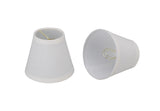 # 32103-2 Hardback Shaped Clip-On Shade (2 Pack) in White - also sold in 5, 6 and 9 Packs - Aspen Creative Corporation