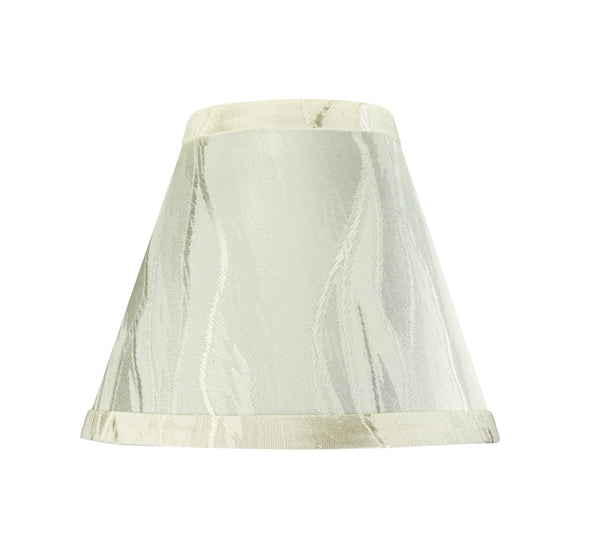 "# 32104-X Small Hardback Empire Shape Mini Chandelier Clip-On Lamp Shade, Transitional Design in Cream, 6"" bottom width (3"" x 6"" x 5"") - Sold in 2, 5, 6 & 9 Packs"