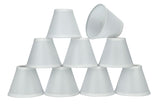 "# 32107-X Small Hardback Empire Shape Mini Chandelier Clip-On Lamp Shade, Transitional Design in White, 6"" bottom width (3"" x 6"" x 5"") - Sold in 2, 5, 6 & 9 Packs"