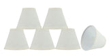 "# 32110-X Small Hardback Empire Shape Chandelier Clip-On Lamp Shade Set of 2, 5, 6,and 9, Transitional Design in Off White, 6"" bottom width (3"" x 6"" x 5"")"