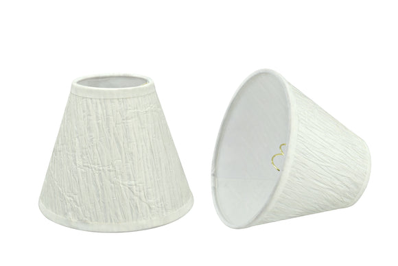 # 32114-X Small Hardback Empire Shape Chandelier Clip-On Lamp Shade Set of 2, 5, 6,and 9, Transitional Design in Off White, 6