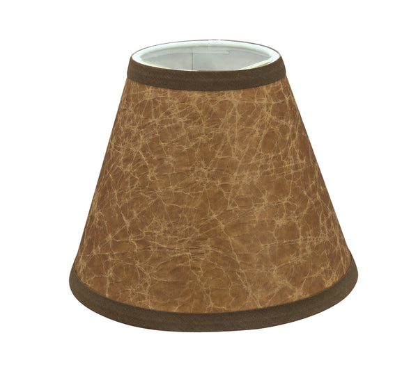 "# 32117-X Small Hardback Empire Shape Chandelier Clip-On Lamp Shade Set, Transitional Design in Dark Brown, 6"" bottom width (3"" x 6"" x 5"")"