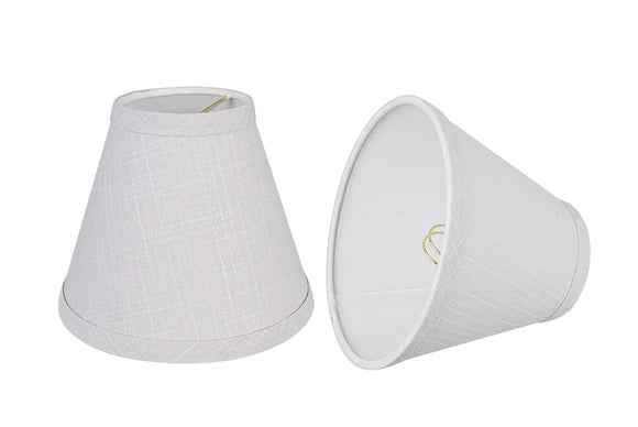 # 32125-X Small Hardback Empire Shape Chandelier Clip-On Lamp Shade Set of 2, 5, 6, and 9, Transitional Design in Light Grey, 6
