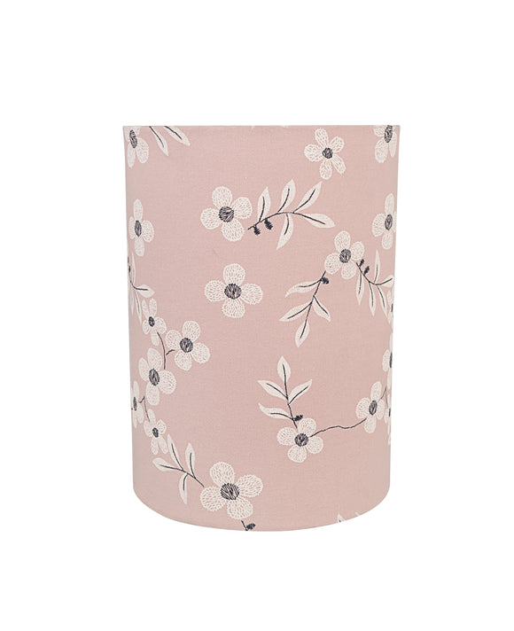 # 32132 Transitional Drum (Cylinder) Shape Spider Construction Lamp Shade in Pink, 8