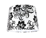 "# 32141 Transitional Hardback Empire Shape Spider Construction Lamp Shade in Off White Fabric, 14"" wide (12"" x 14"" x 10"")"