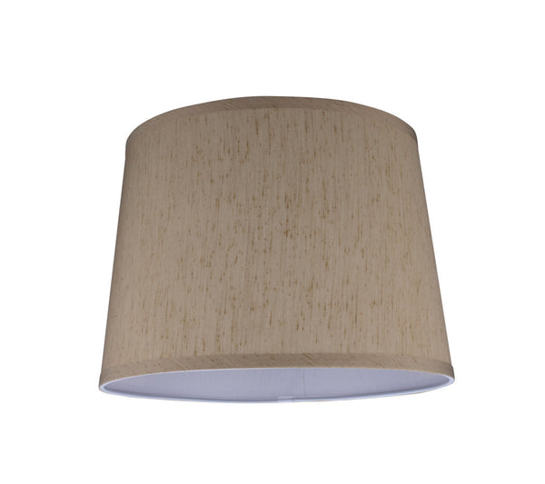"# 32142  Transitional Hardback Empire Shape Spider Construction Lamp Shade in Yellowish Brown, 14"" wide (12"" x 14"" x 10"")"