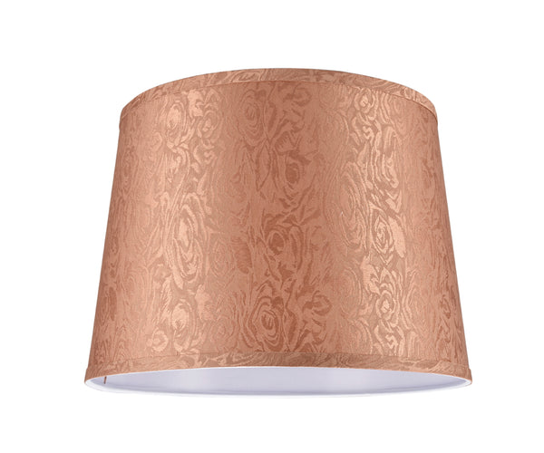 "# 32144  Transitional Hardback Empire Shape Spider Construction Lamp Shade in Brown Fabric, 14"" wide (12"" x 14"" x 10"")"