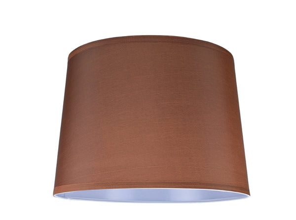 "# 32145 Transitional Hardback Empire Shape Spider Construction Lamp Shade in Dark Brown, 14"" wide (12"" x 14"" x 10"")"