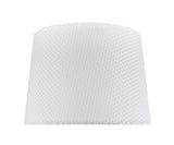 "# 32147 Transitional Hardback Empire Shape Spider Construction Lamp Shade in Off-White Network, 14"" wide (12"" x 14"" x 10"")"