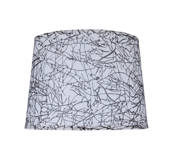 # 32148 Transitional Hardback Empire Shape Spider Construction Lamp Shade in Black & White, 14