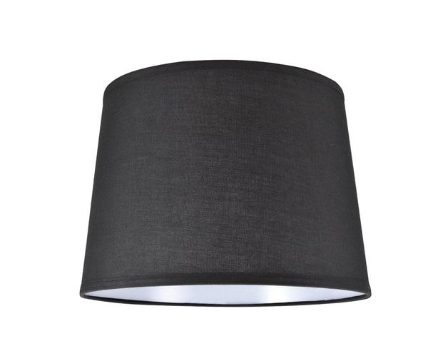 "# 32149 Transitional Hardback Empire Shape Spider Construction Lamp Shade in Black Fabric, 14"" wide (12"" x 14"" x 10"")"