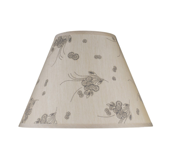 # 32150 Transitional Hardback Empire Shape Spider Construction Lamp Shade, Beige - Floral Design, 15