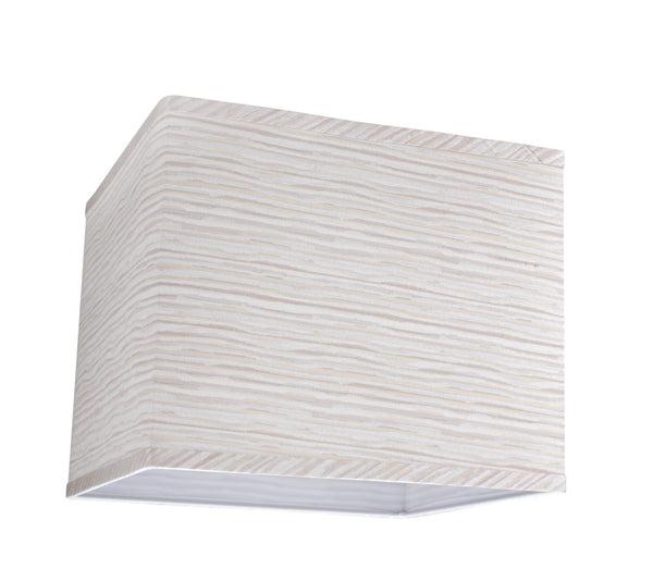 # 32161 Rectangular Hardback Shaped (spider) Shade in Striped Textured Fabric - Aspen Creative Corporation