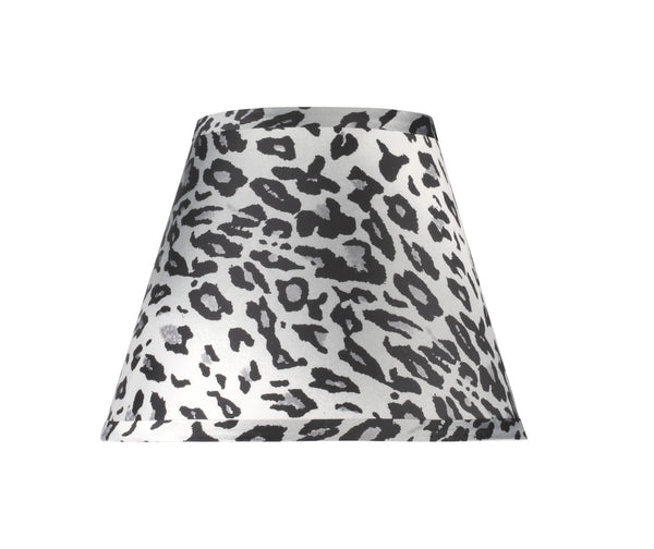 "# 32171 Transitional Hardback Empire Shape Spider Construction Lamp Shade with Leopard Pattern Fabric, 9"" wide (5"" x 9"" x 7"")"