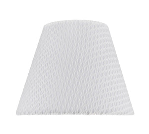 "# 32175 Transitional Hardback Empire Shape Spider Construction Lamp Shade in Off-White Network, 9"" wide (5"" x 9"" x 7"")"