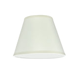 "# 32179 Transitional Hardback Empire Shaped Spider Construction Lamp Shade in Off White, 9"" wide (5"" x 9"" x 7"")"