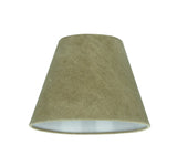 "# 32180 Transitional Hardback Empire Shaped Spider Construction Lamp Shade in Dark Khaki, 9"" wide (5"" x 9"" x 7"")"