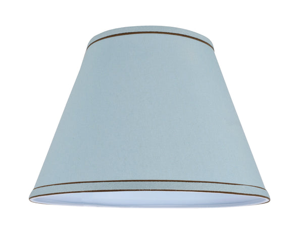 "# 32183 Transitional Hardback Empire Shape Spider Construction Lamp Shade in Light Blue, 13"" wide (7"" x 13"" x 9 1/2"")"