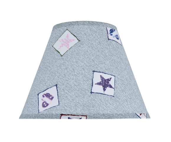 # 32191 Transitional Hardback Empire Shape Spider Construction Shade, Light Blue & Patriotic Accents, 12