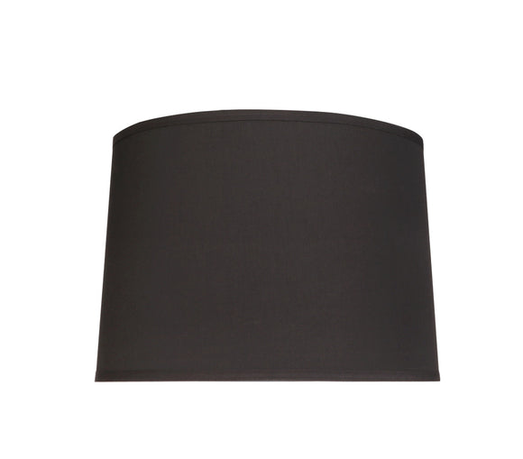 # 32222  Transitional Hardback Empire Shaped Spider Construction Lamp Shade in Black Cotton, 12
