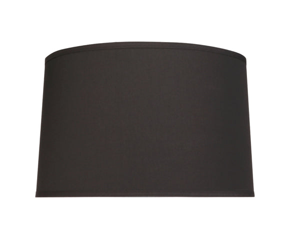 # 32252 Transitional Hardback Empire Shaped Spider Construction Lamp Shade in Black Cotton, 18