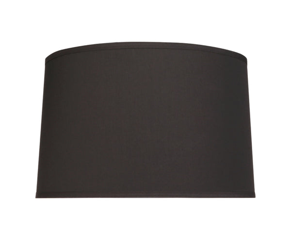 "# 32252 Transitional Hardback Empire Shaped Spider Construction Lamp Shade in Black Cotton, 18"" wide (17"" x 18"" x 11 1/2"")"